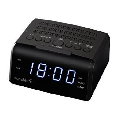 Radio reloj Sunstech FRD35BK Negro