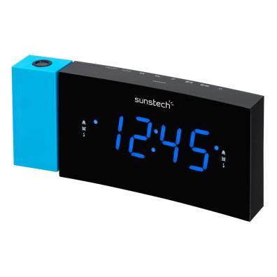 Radio Despertador Sunstech FRDP3BL Negro, Azul