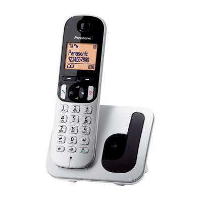 Teléfono Panasonic KX-TGC210SPS Plata y Negro