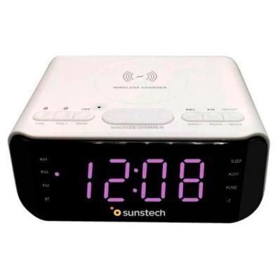 Radio Despertador Sunstech FRD50BTWCWT Blanco