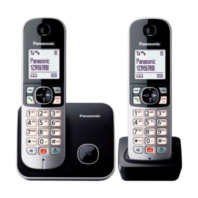 Teléfono Panasonic KX-TG6852SPB DUO Negro