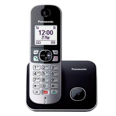 Teléfono Panasonic KX-TG6851SP Negro, Plata