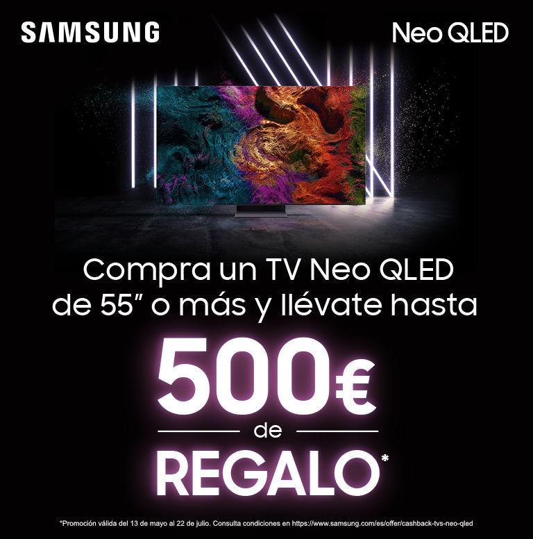 Compra tu televisor QLED Samsung y consigue un reembolso de hasta 500 euros