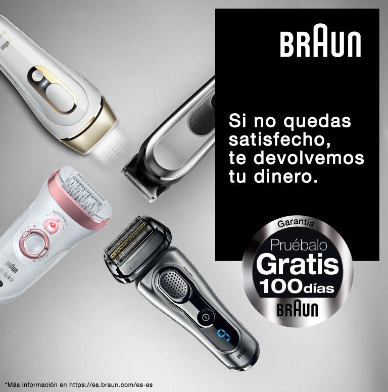 Pruébalo gratis durante 100 días por la compra de uno de los productos Braun cuidado personal que entran en promoción