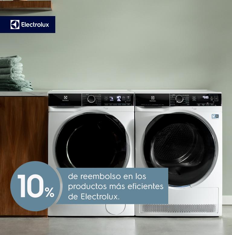 Llévate  un reembolso del 10%  por la compra de tu producto de mayor eficiencia energética de Electrolux