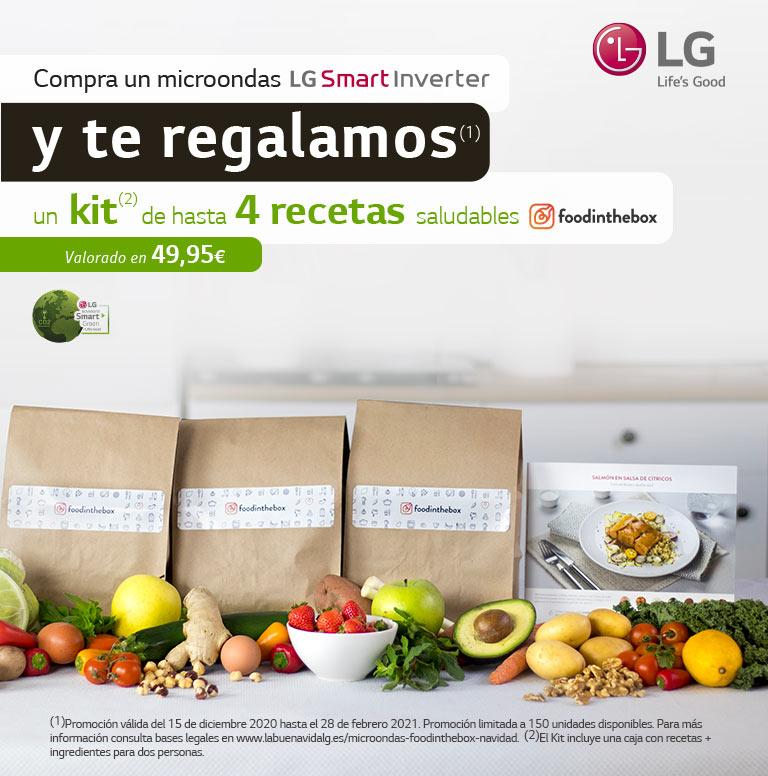 Compra tu nuevo microondas LG y consigue hasta 4 recetas en FOODINTHEBOX.