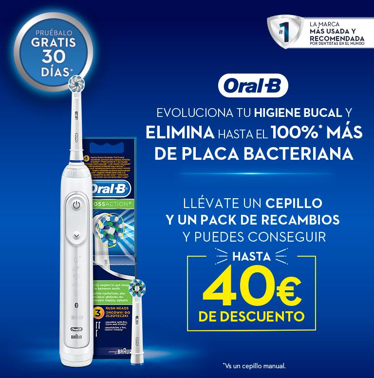 Llévate hasta 40€ de reembolso por la compra de tu Cepillo Eléctrico y Recambio Oral B