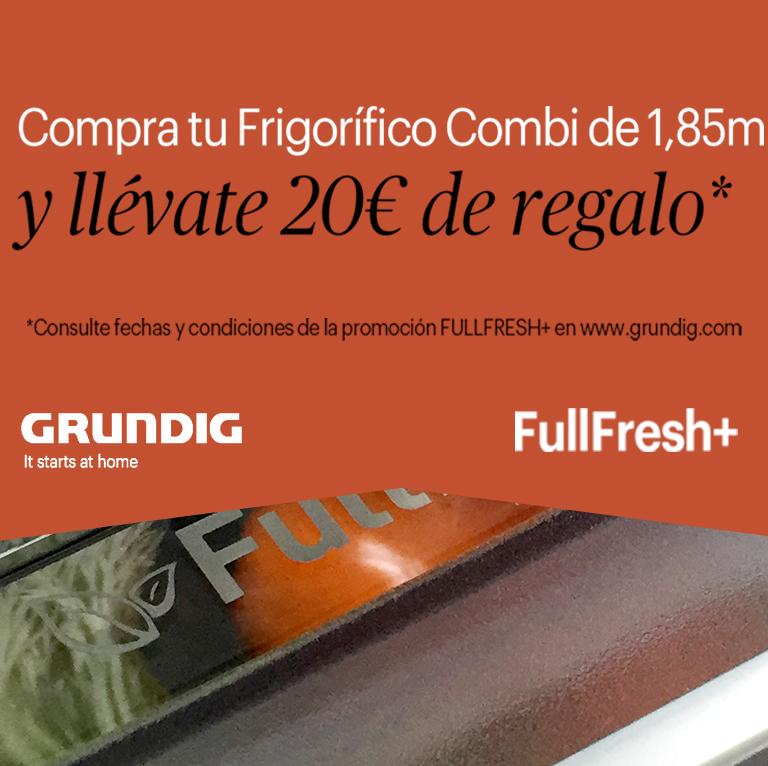 Llévate 20€ de reembolso por la compra de tu Frigorífico Grundig