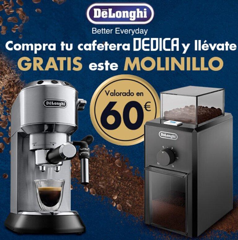 Llévate un molinillo de café de regalo por la compra de tu Cafetera Dedica De´Longhi