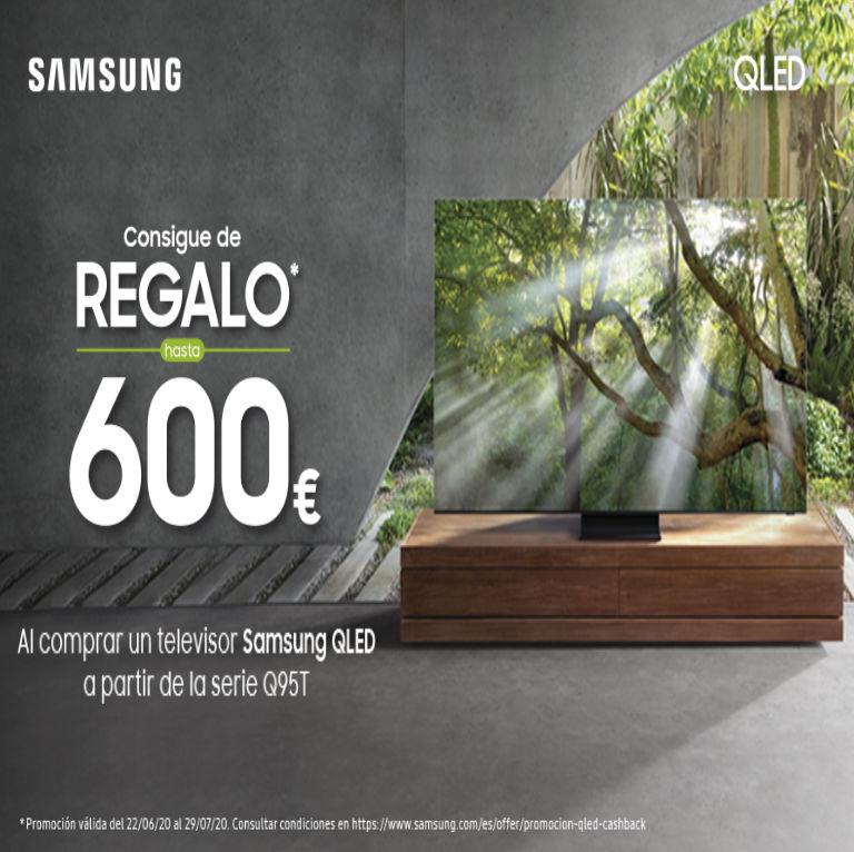 Llévate hasta 600€ de regalo por la compra de tu Televisor QLED Samsung