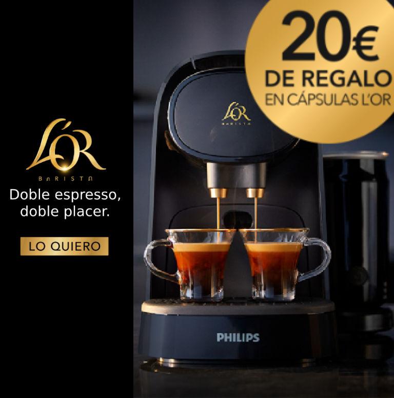 Llévate 20€ de regalo en cápsulas por la compra de tu Cafetera L´OR Philips