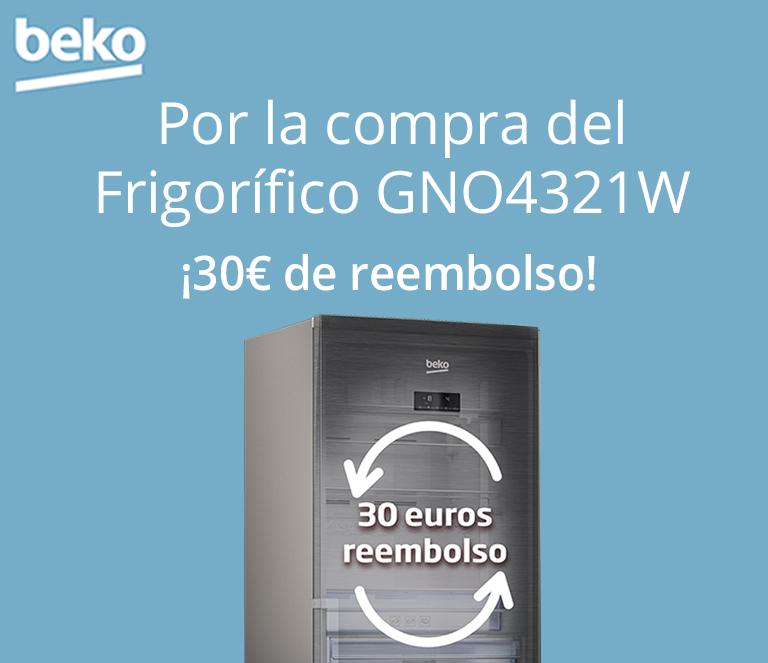 Llévate 30€ de reembolso por la compra de tu Frigorífico con tecnología Neofrost de BEKO
