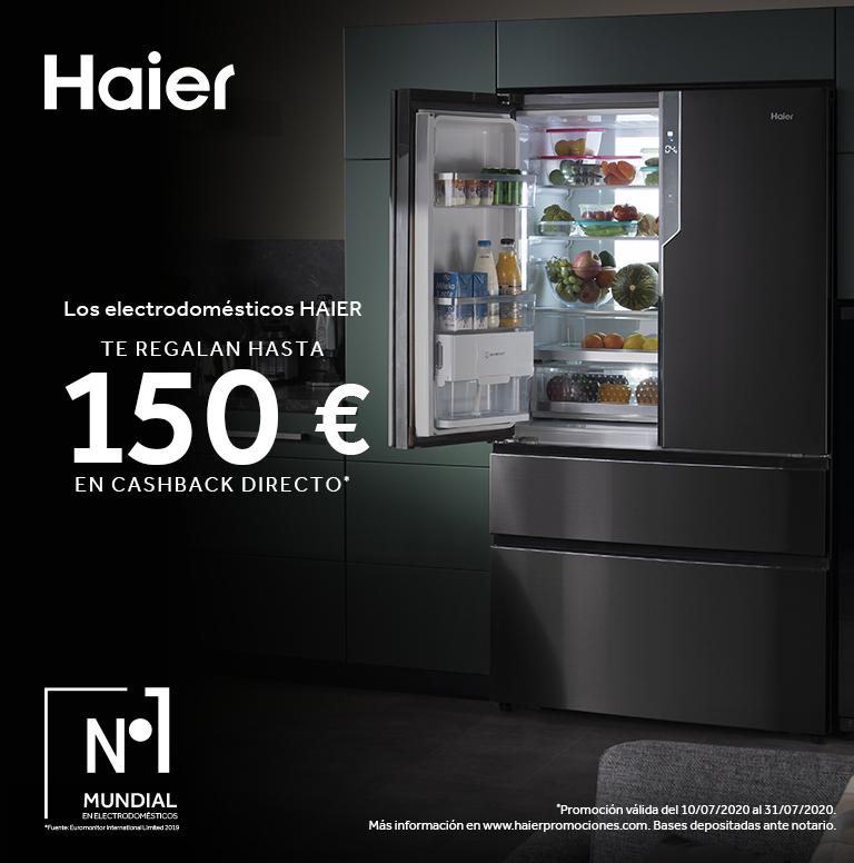 Compra tu Electrodoméstico HAIER y consigue hasta 150€ de reembolso