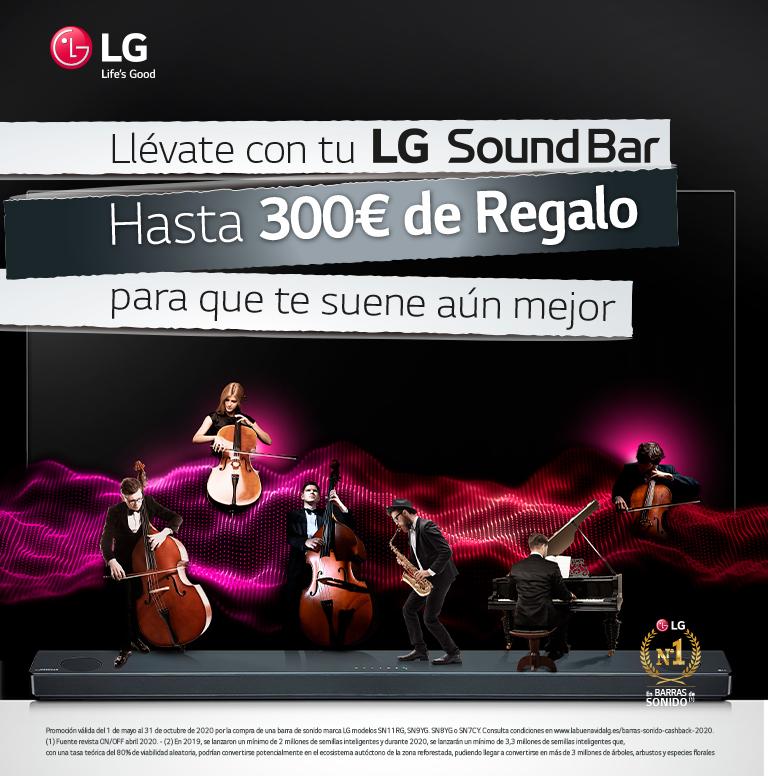 Compra tu Barra de Sonido LG y consigue hasta 300€ de reembolso