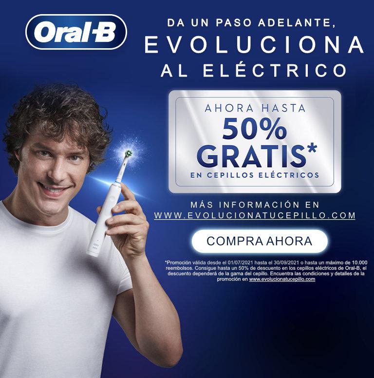 Compra tu producto Oral B y consigue hasta un 50% de reembolso