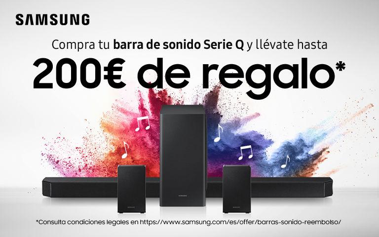 Llévate hasta 200€ de reembolso por la compra de tu Barra de Sonido Q Samsung