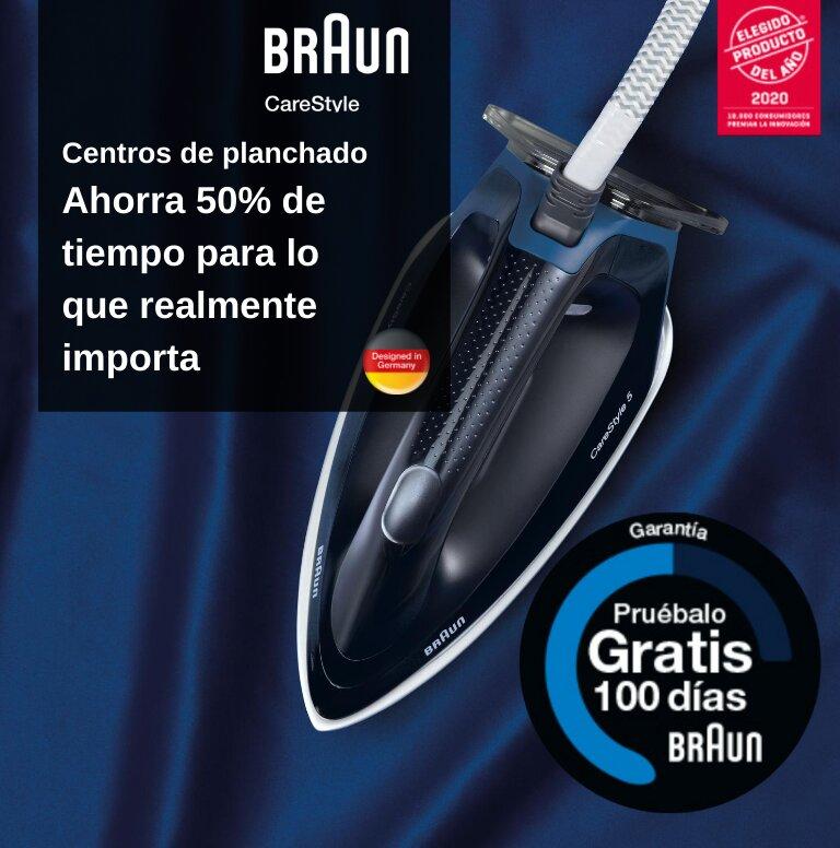 Consigue 100 días de prueba por la compra de tu Centro de Planchado Braun