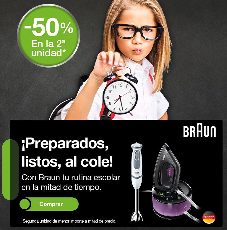 Compra una selección de productos Braun y consigue un reembolso del 50% de la segunda unidad