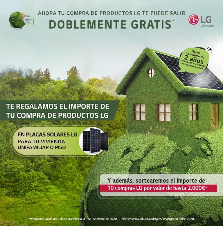 Llévate tu compra doblemente gratis por la compra de productos LG
