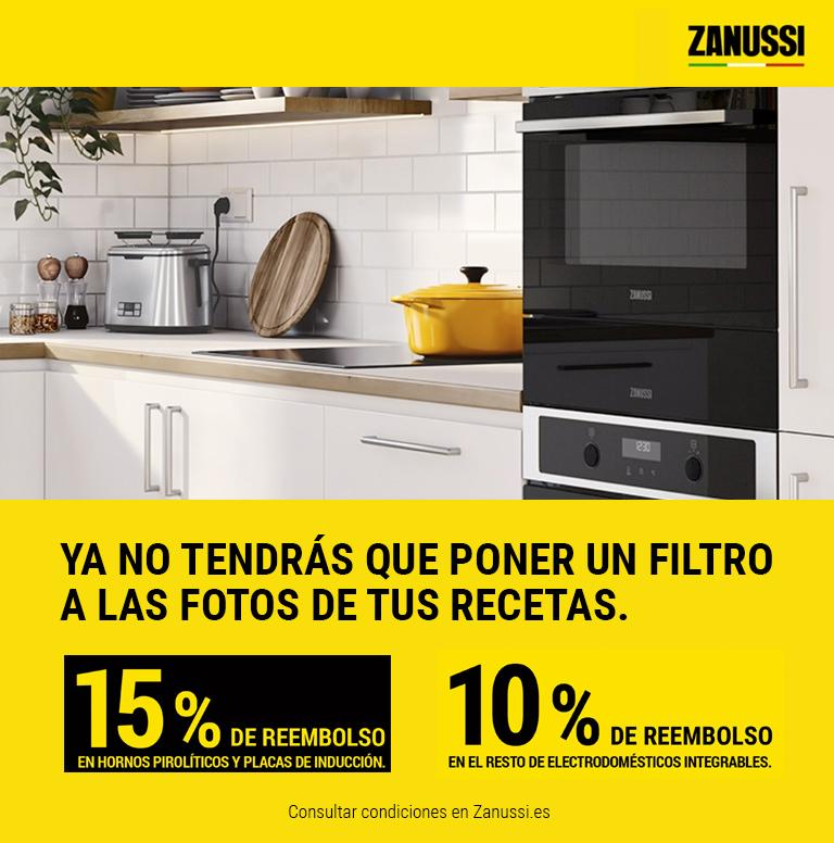 Consigue hasta un 15% de reembolso por la compra de un electrodoméstico encastrable Zanussi