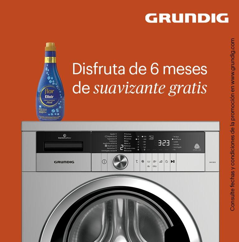 Compra tu lavadora Grundig y consigue 6 meses de suavizante gratis
