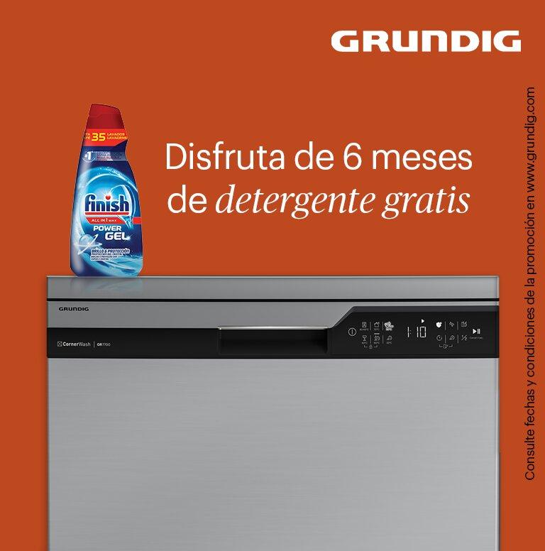 Compra tu lavavajillas Grundig y consigue 6 meses de detergente gratis