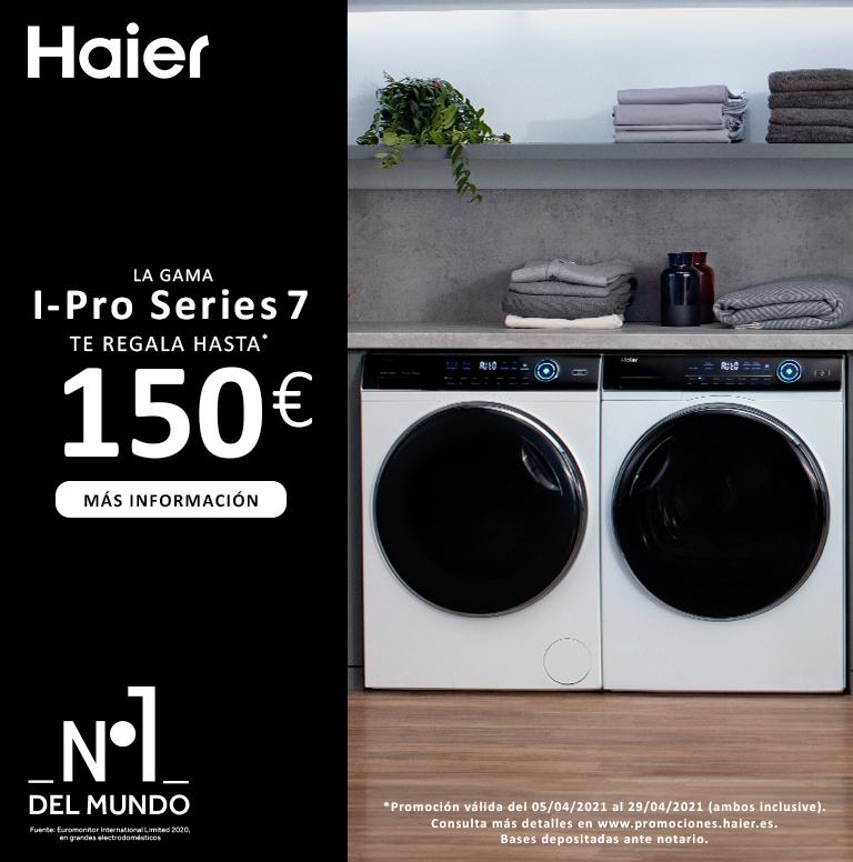 Compra tu lavasecadora Haier y consigue hasta 150€ de regalo