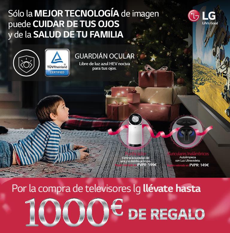 Consigue un reembolso determinado de hasta 1000€ o un producto de regalo por la compra de tu Televisor OLED o Nanocell de LG