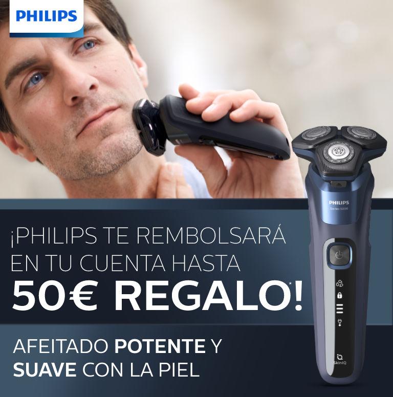 Compra tu afeitadora Philips y consigue hasta 50€ de reembolso