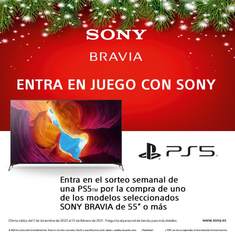 Compra tu televisor Bravia de Sony y consigue la posibilidad de participar en el sorteo de una Playstation 5