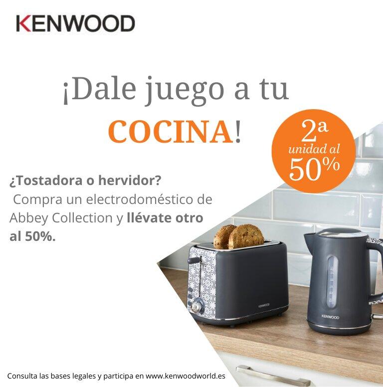 Llévate un 50% de reembolso en la segunda unidad por la compra de tu producto Abbey Collection de Kenwood