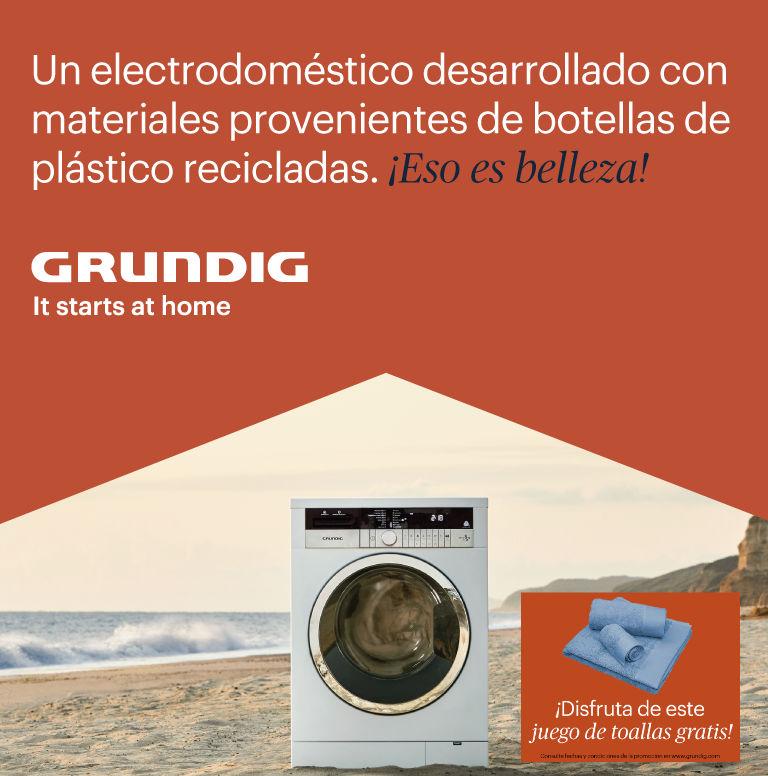 Compra una lavadora, secadora o lavasecadora Grundig y consigue un juego de toallas de regalo