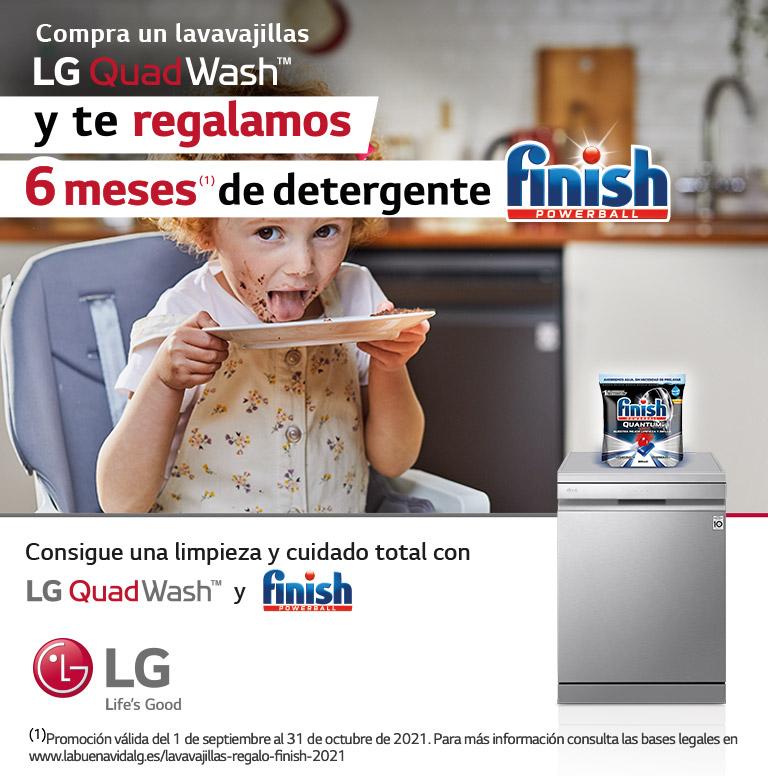 Compra tu lavavajillas LG y consigue 6 meses de Finish Powerball gratis