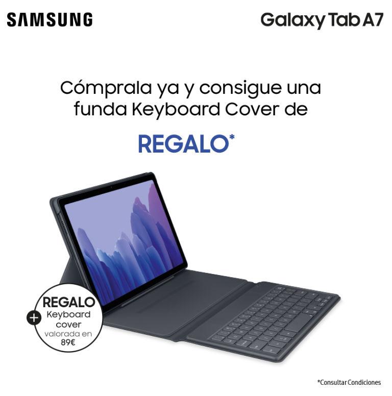 Consigue una funda teclado de regalo por la compra de una tablet Samsung Tab A7