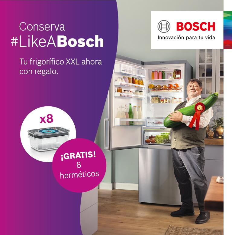 Compra tu frigorífico Combi Bosch y consigue unos recipientes herméticos