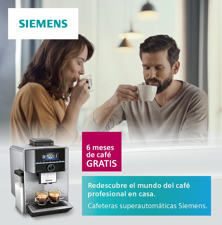 Compra tu cafetera superautomática Siemens y consigue 6 meses de café gratis