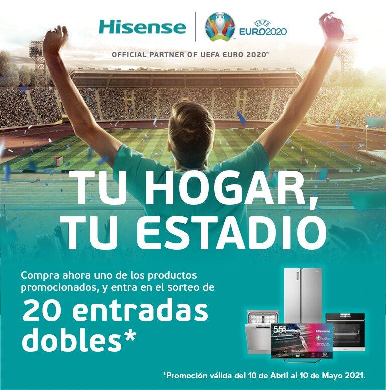 Compra tu producto Hisense y consigue entradas para la Eurocopa 2020