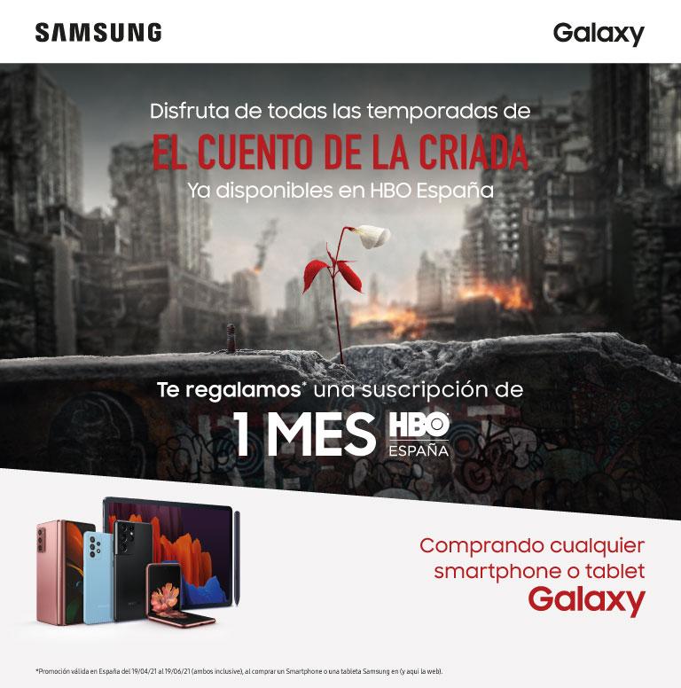 Compra tu smartphone o tablet Samsung y consigue un mes de suscripción de HBO