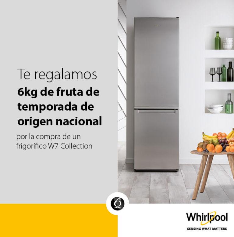 Compra tu frigorífico Whirlpool y consigue una caja de fruta de 6 kg