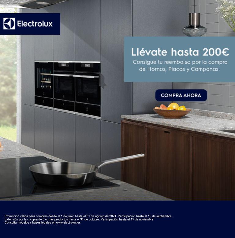 Compra tu electrodoméstico de cocina Electrolux y consigue hasta 200 euros de reembolso