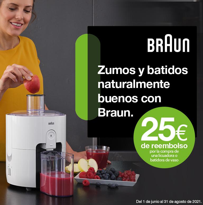 Compra tu batidora de vaso o licuadora Braun y consigue 25 euros de reembolso