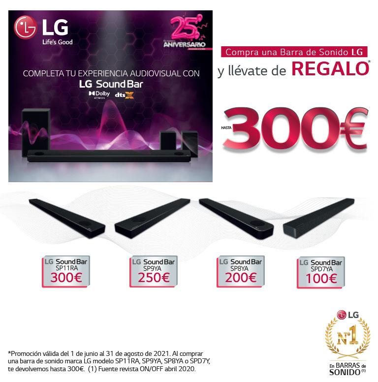 Compra tu Barra de Sonido OLED LG y consigue un reembolso de hasta 300 euros
