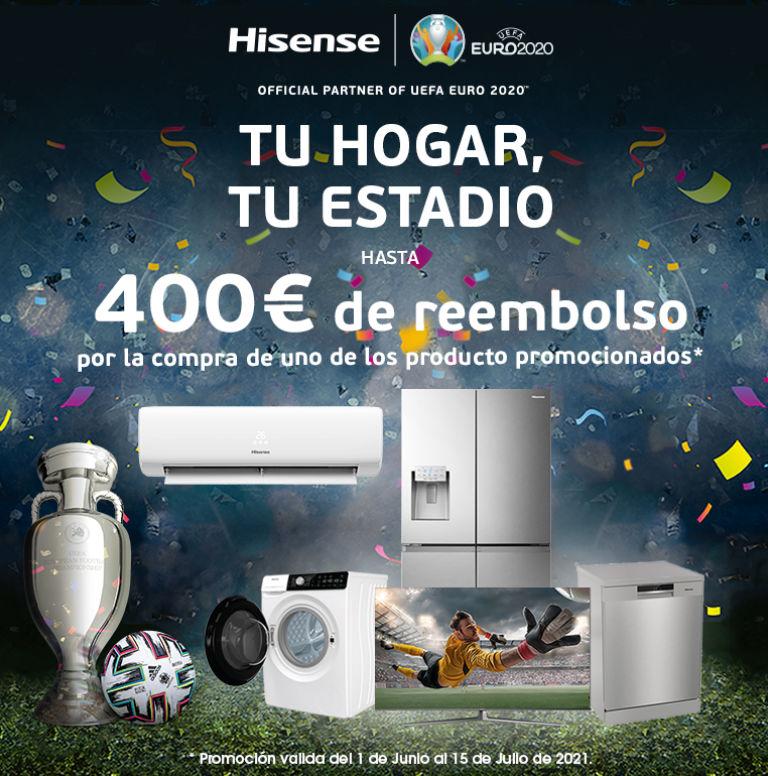 Compra tu producto Hisense y consigue un reembolso de hasta 400 euros
