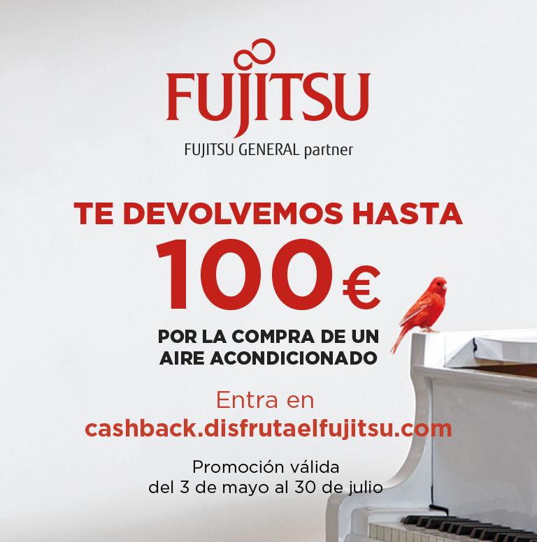 Compra tu Aire Acondicionado Fujitsu y consigue un reembolso de hasta 100 euros