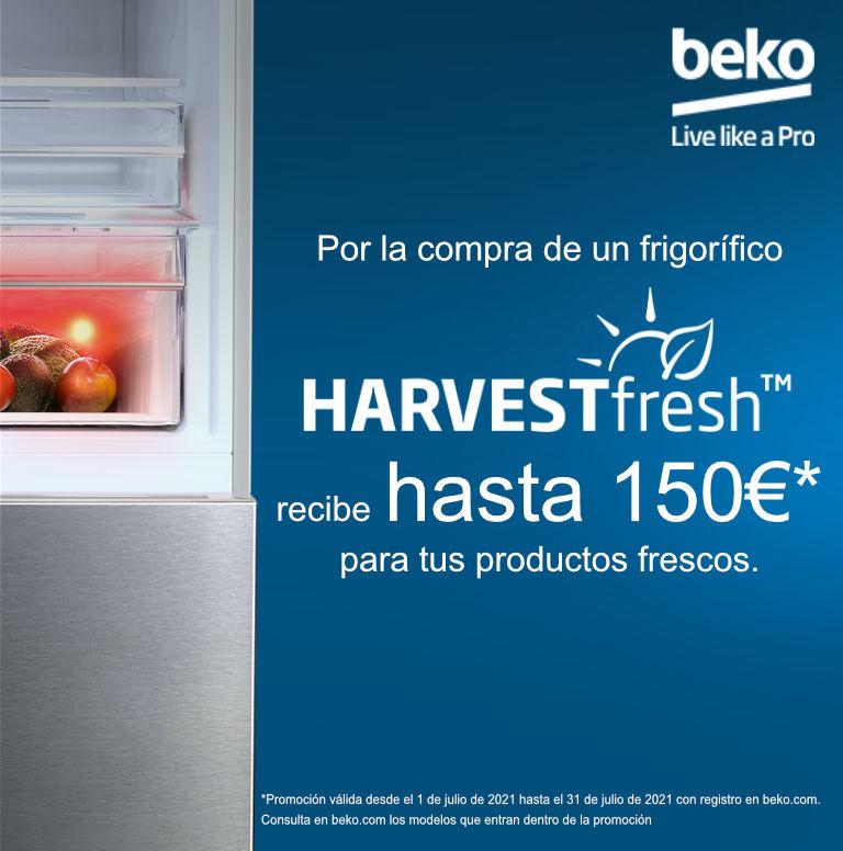 Compra tu frigorífico HarvestFresh Beko y consigue un regalo de hasta 150 euros