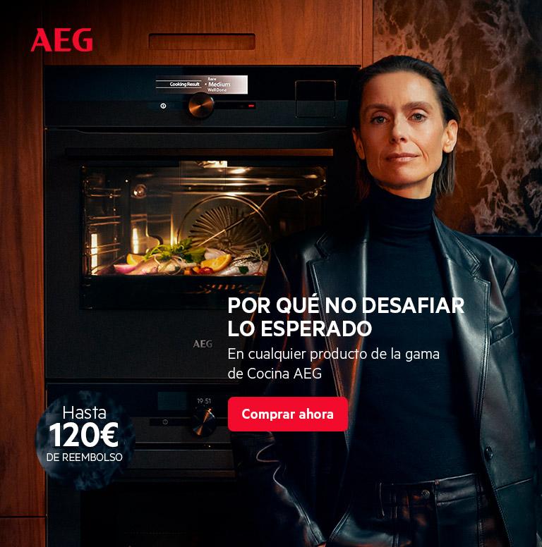 Compra tu electrodoméstico de cocina AEG y consigue hasta 120 euros de reembolso