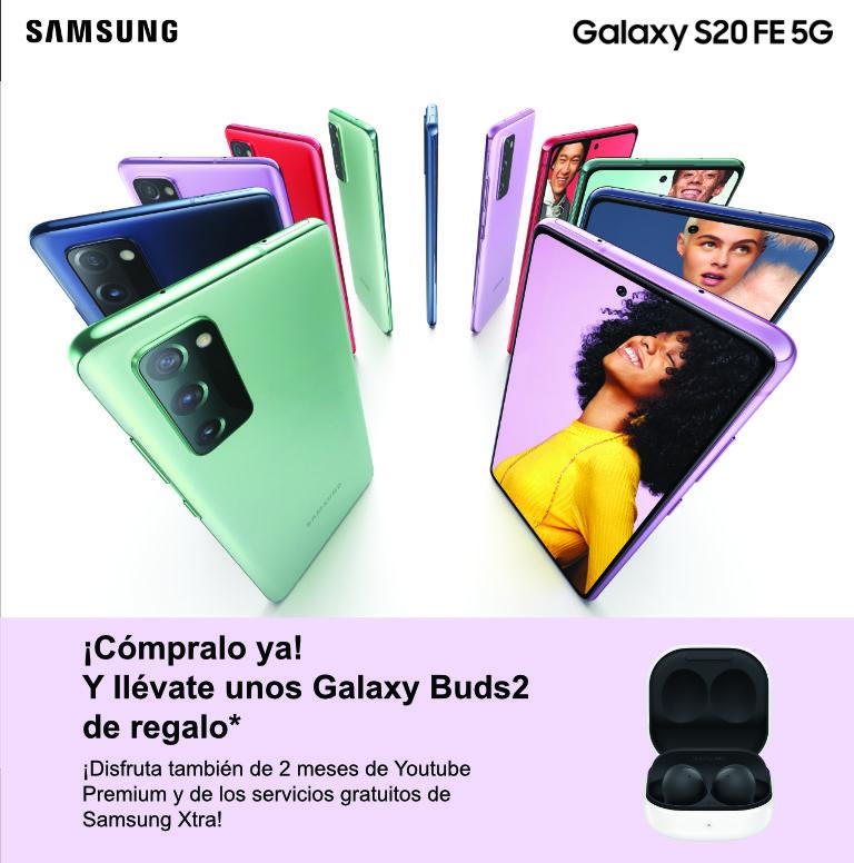 Compra tu smartphone Galaxy S20 Samsung y consigue unos auriculares Galaxy Buds2 de regalo