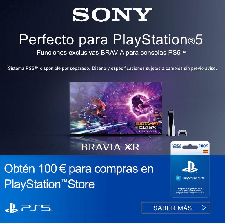 Compra televisor Bravia XR Sony y consigue 100 euros de compra en Playstation Store
