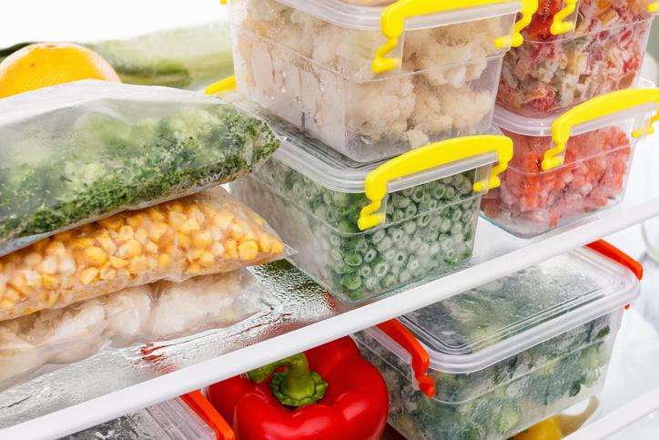 alimentos y envases congelados