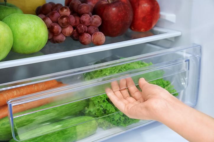 frigorífico cajón verduras